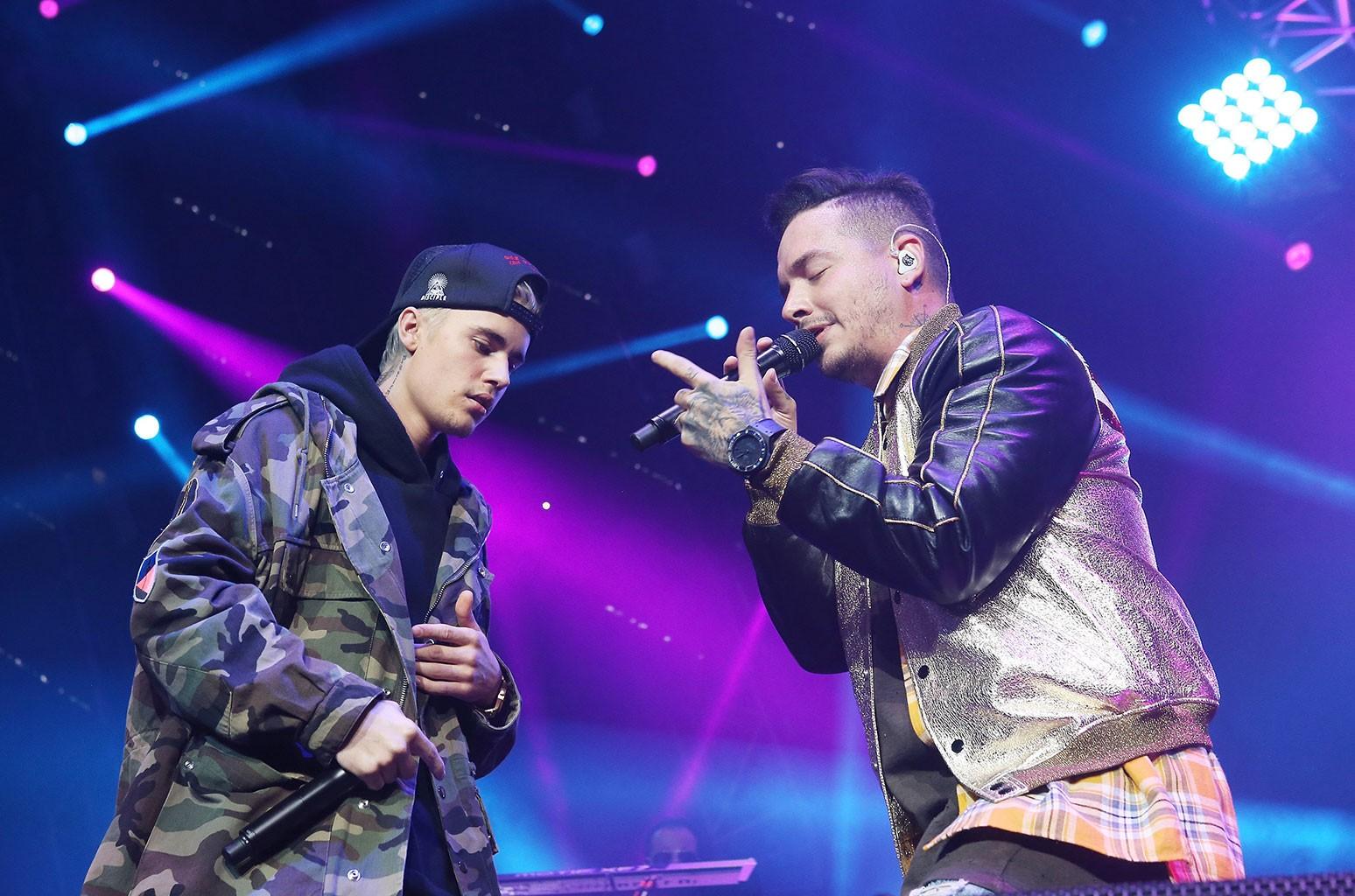 Justin Bieber and J Balvin