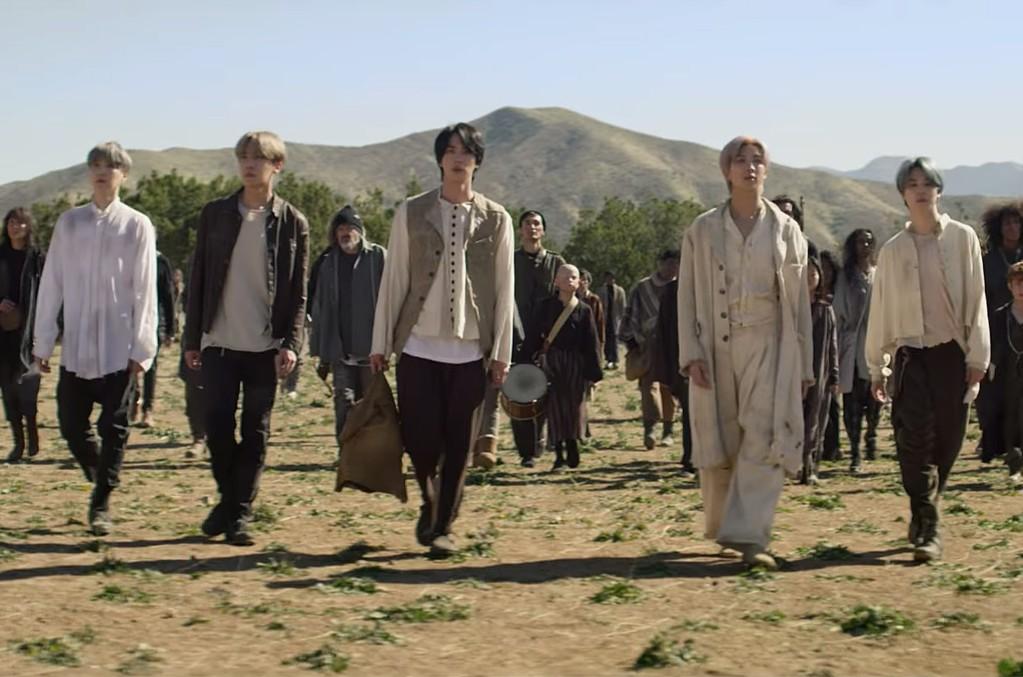 Imagini pentru bts on music video 2020
