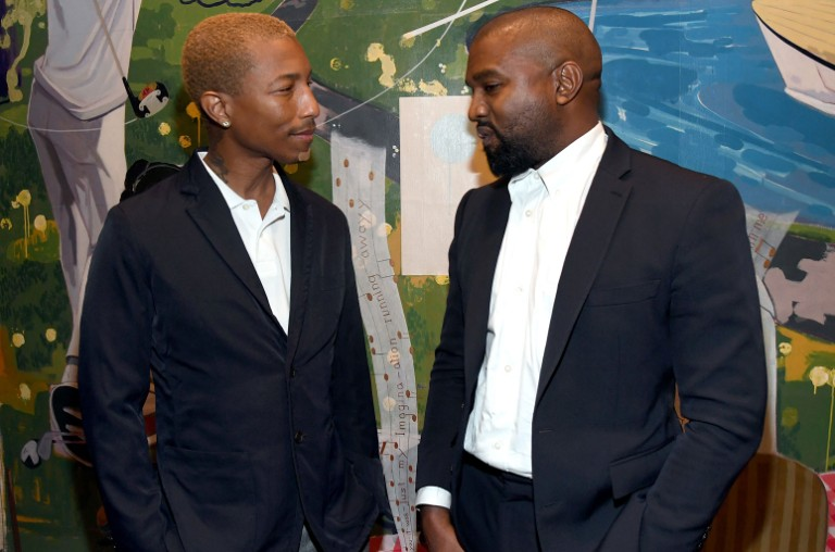 Pharrell Williams and Kanye West