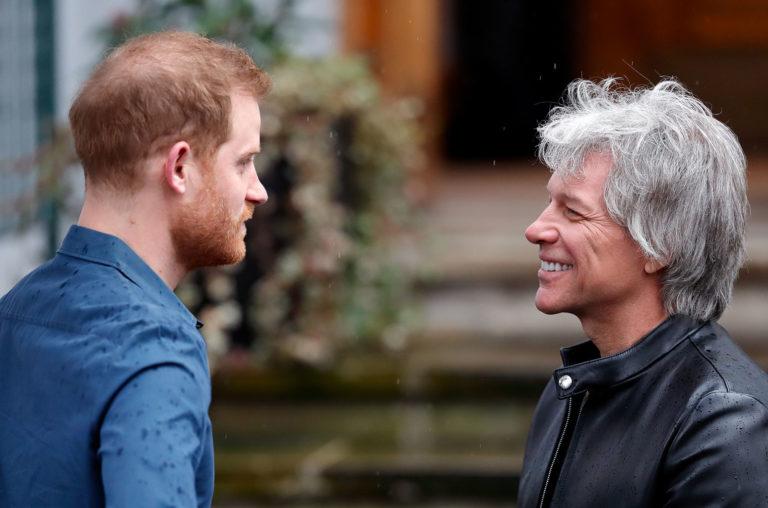Prince Harry and Jon Bon Jovi