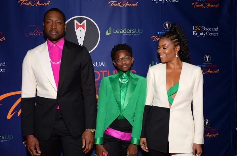 Dwyane Wade, Zaya Wade and Gabrielle Union