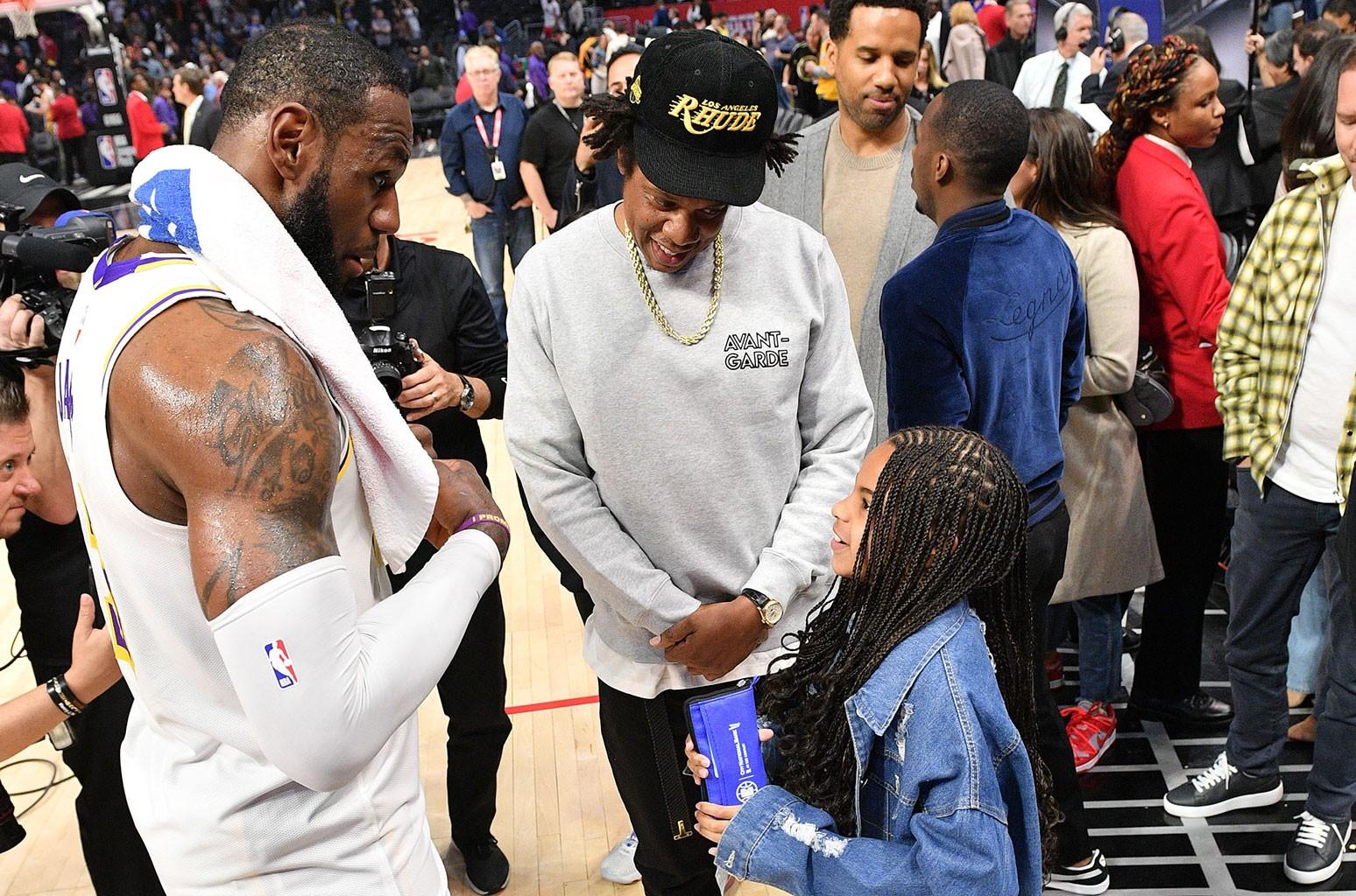 Jay Z, Blue Ivy Carter, Lebron James