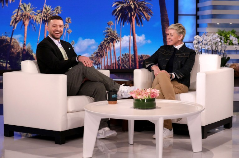 Justin Timberlake Ellen DeGeneres