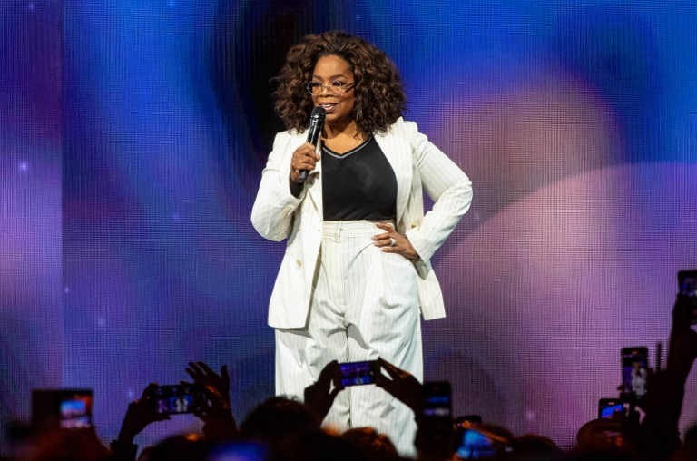 Emma McIntyre/Getty Images Oprah Winfrey speaks onstage during 'Oprah's 2020 Vision: Your Life in Focus Tour' presented by WW (Weight Watchers Reimagined) at The Forum on Feb. 29, 2020 in Inglewood, Calif.