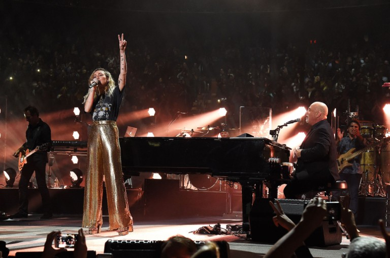 Miley Cyrus and Billy Joel