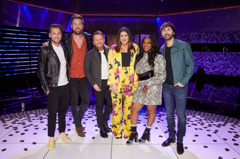 Ryan Tedder, Charles Kelley, Shane McAnally, Hillary Scott, Ester Dean and Dave Haywood