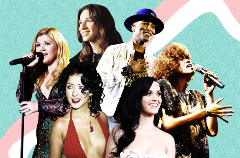 Kelly Clarkson, Carole King, Christina Aguilera, Katy Perry, Pharrell Williams, Whitney Houston