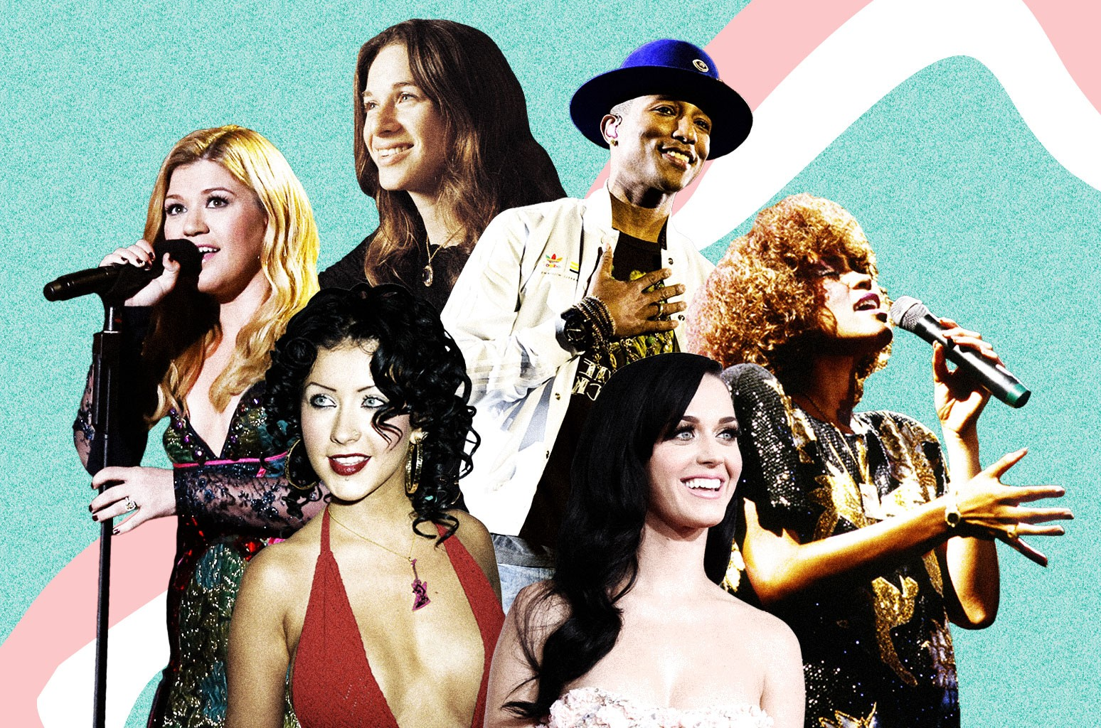 Kelly Clarkson, Carole King, Christina Aguilera, Katy Perry, Pharrell Williams, Whitney Houston