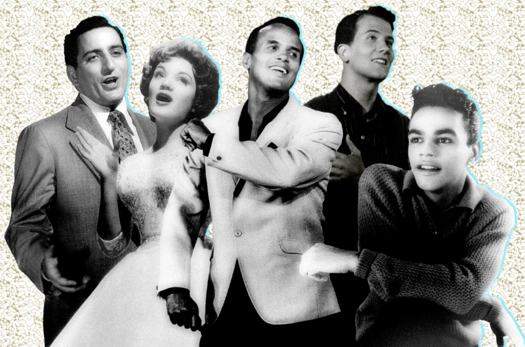 Tony Bennett, Connie Francis, Harry Belafonte, Pat Boone, Johnny Mathis