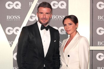 Victoria Beckham Smiles in Rare Photo, But David Has the Last Laugh With This 'Friends'-Inspired Roast