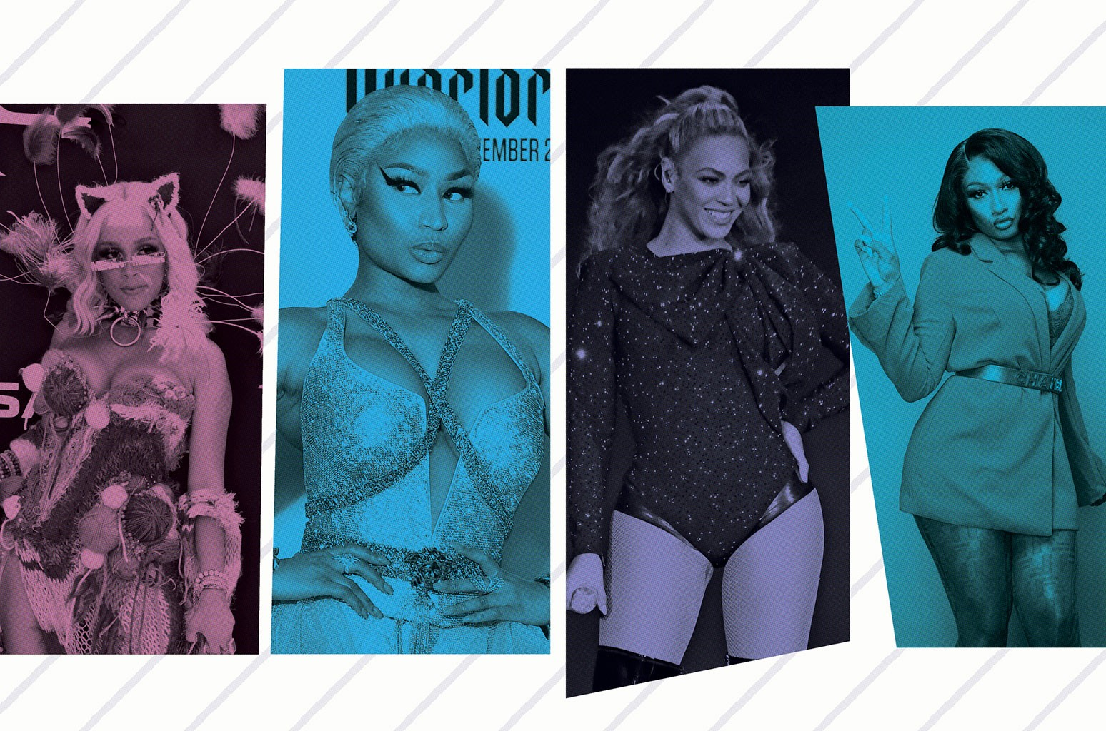 Doja Cat, Nicki Minaj, Beyonce and Megan Thee Stallion