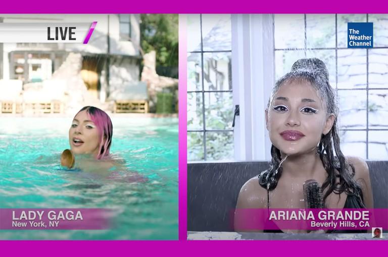 Lady Gaga Ariana Grande A Downpour In Chromatica