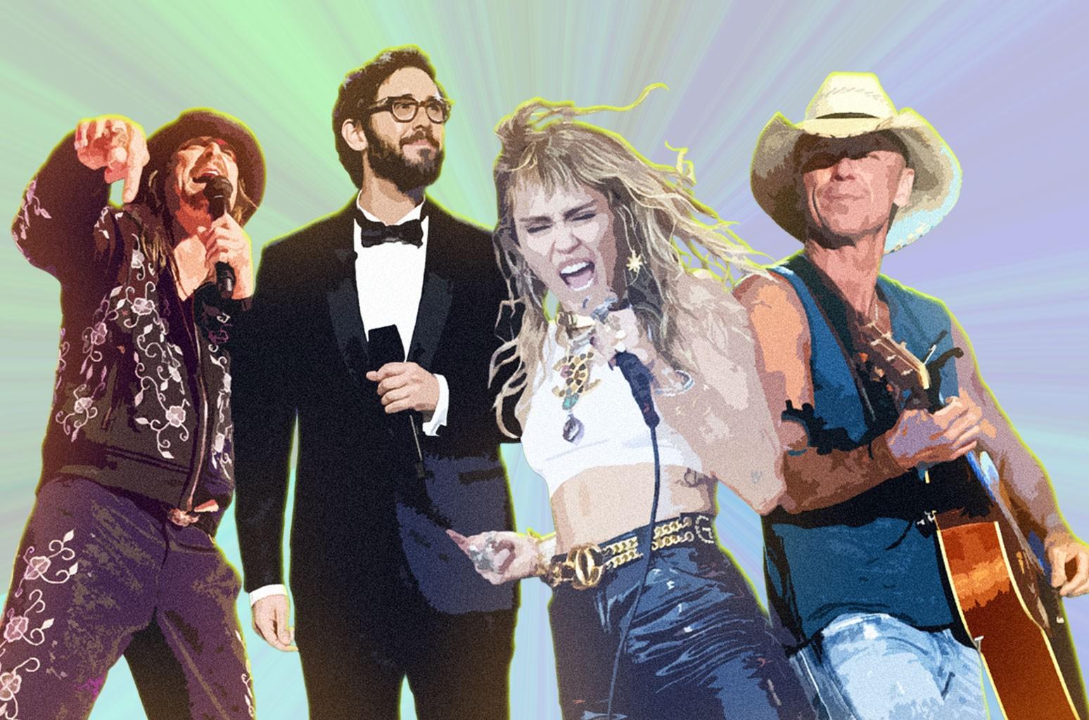 Kid Rock, Josh Groban, Miley Cyrus, Kenny Chesney