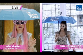 A 'Chromatica' Weather Update: Lady Gaga & Ariana Grande Predict a 100 Percent Chance of 'Rain on Me'