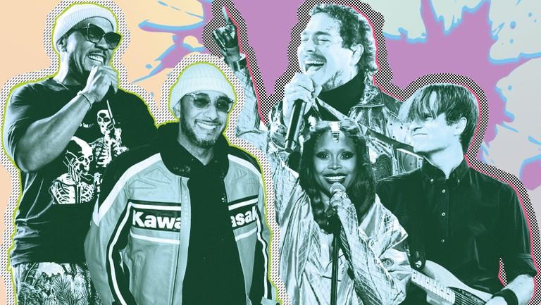 <p>Timbaland, Swizz Beats, Erykah Badu, Post Malone, Ben Gibbard. </p>
