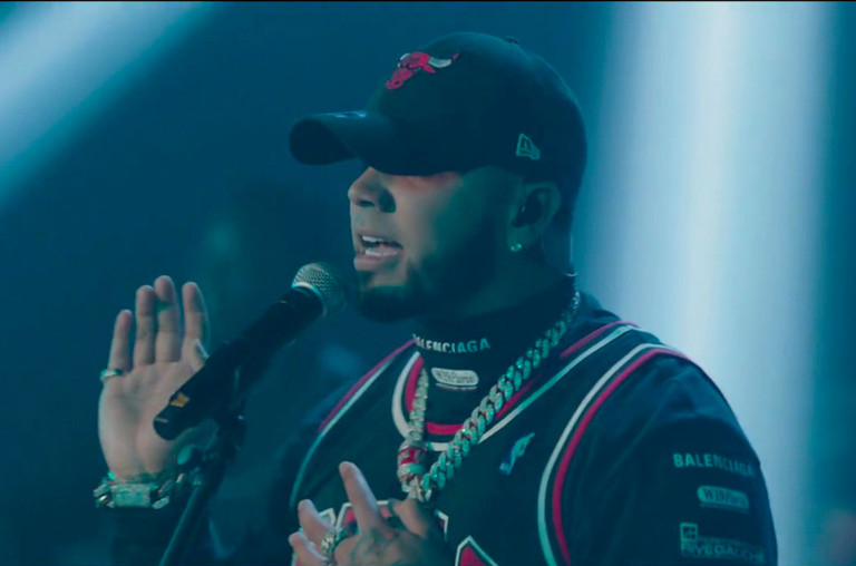 Anuel Late Late Show with James Corden.