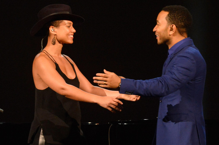 Alicia Keys and John Legend