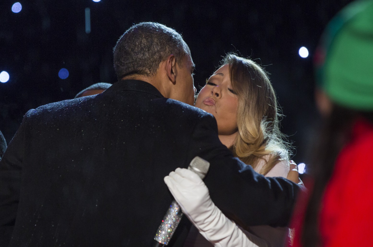 Mariah Carey and Barack Obama