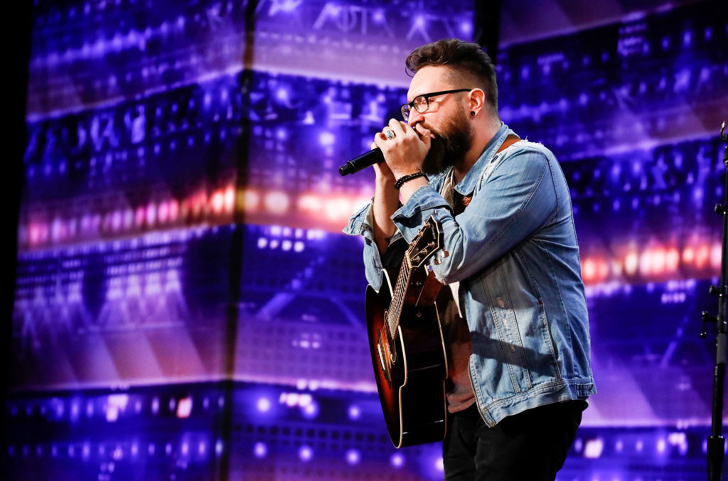 Nolan Neal performs on America's Got Talent.