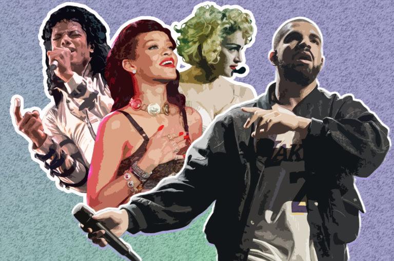 Michael Jackson, Rihanna, Madonna, Drake