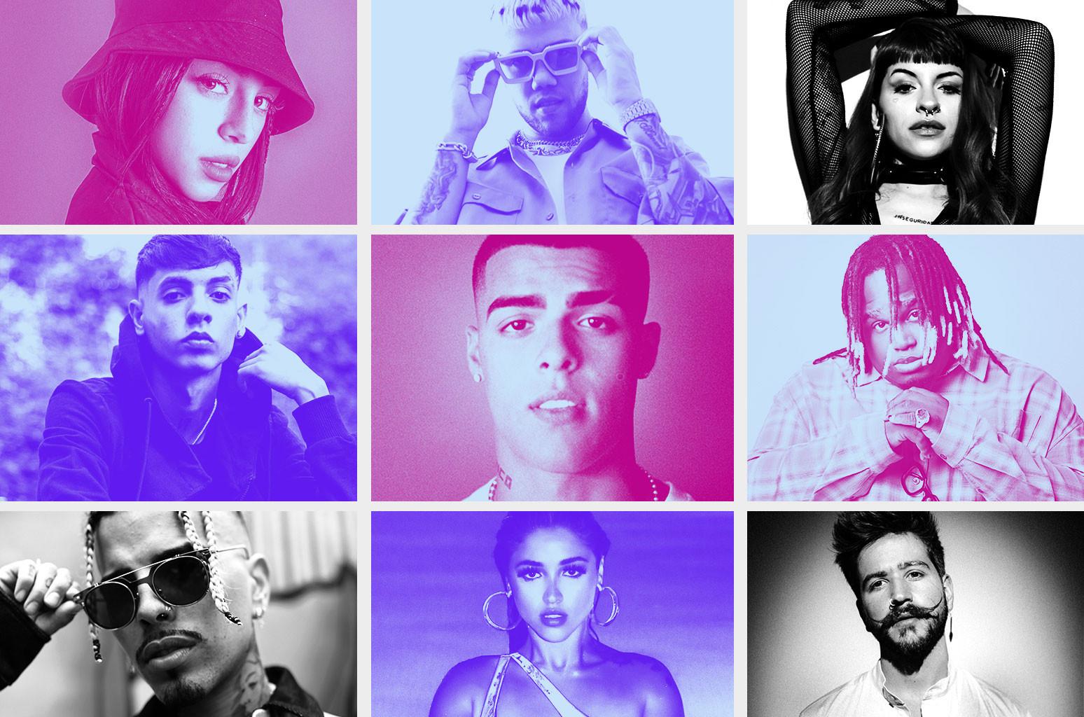 Nicki Nicole, Jhay Cortez, Cazzu, Natanael Cano, Lunay, Sech, Rauw Alejandro, Mariah Angeliq, Camilo.