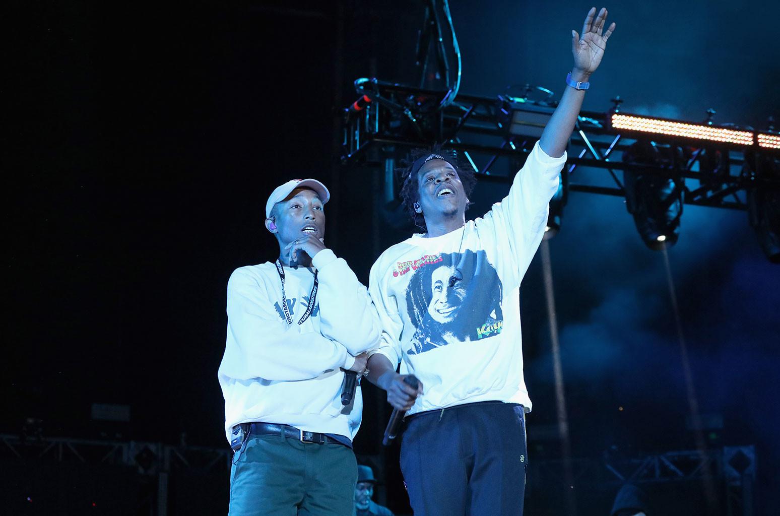 Pharrell and Jay-Z