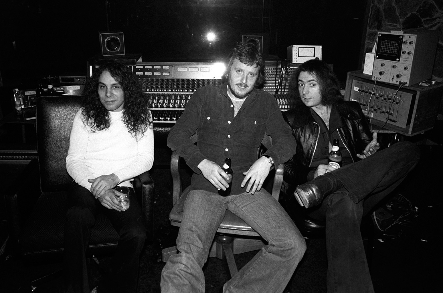 Ronnie Dio, Martin Birch & Ritchie Blackmore