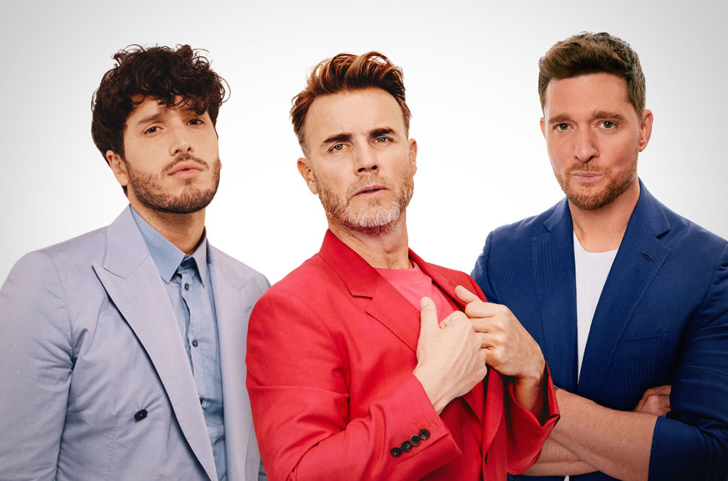 Sebastian Yatra, Gary Barlow and Michael Buble.