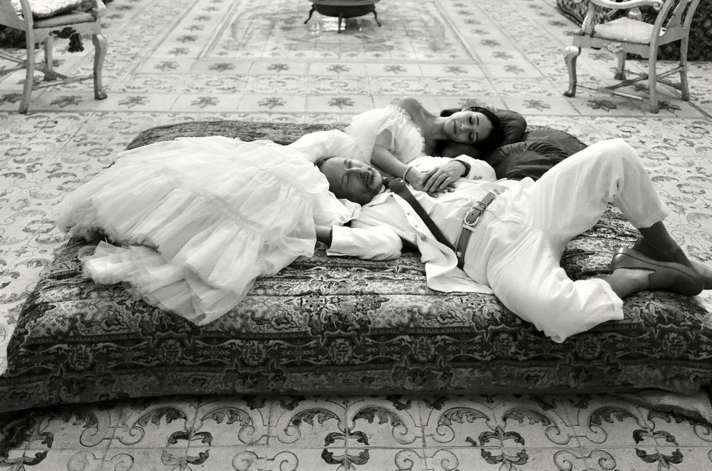 Thom Yorke and Dajana Roncione