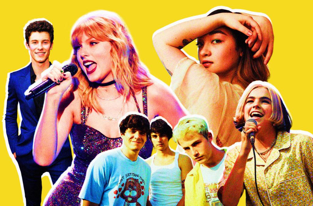 Shawn Mendes, Taylor Swift, Wallows, Mxmtoon, Benee.