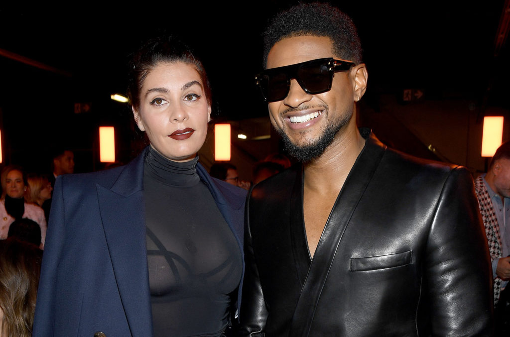 Jenn Goicoechea and Usher