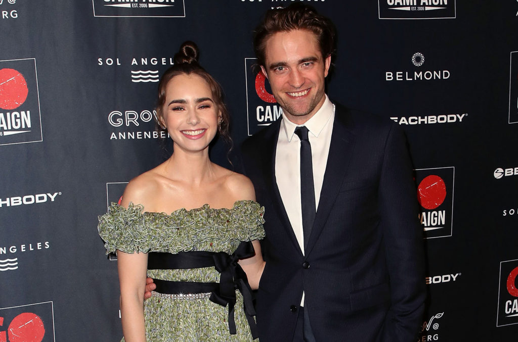Lily Collins and Robert Pattinson