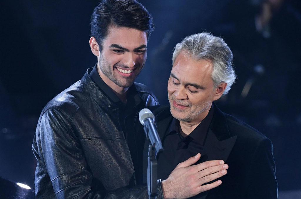 Matteo Bocelli and Andrea Bocelli