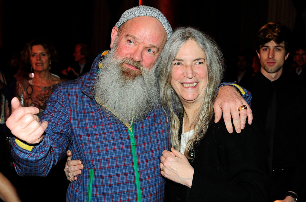 Michael Stipe and Patti Smith