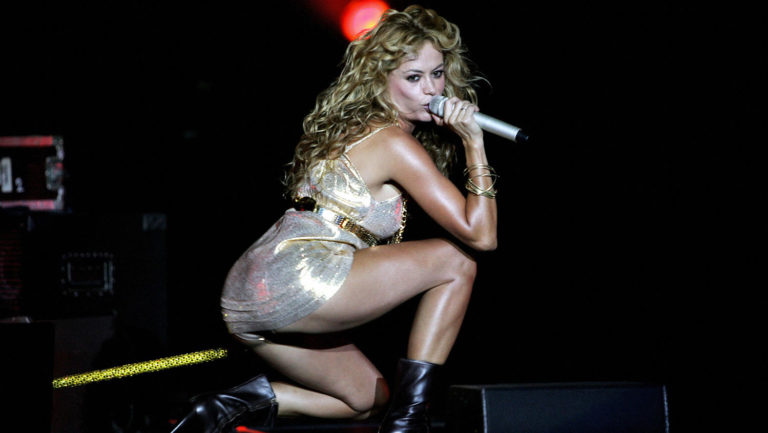 <p>Paulina Rubio performs in Madrid on July 12, 2007. 12 July 2007.</p>