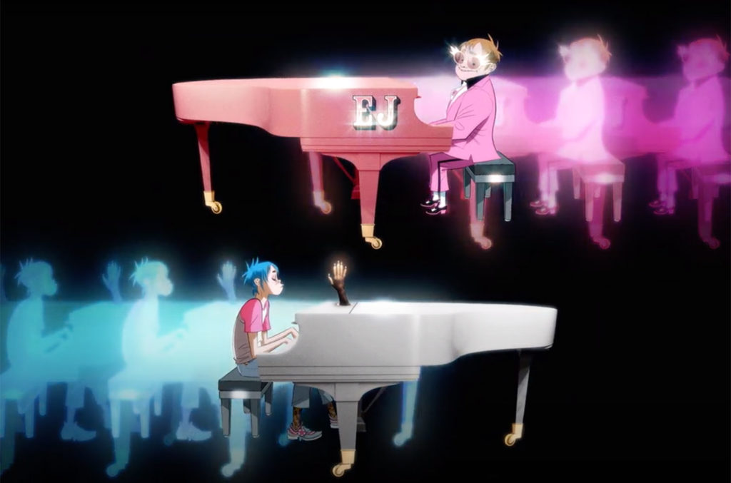 "Gorillaz ft. Elton John & 6LACK ""The Pink Phantom"""
