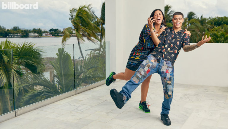 <p>Rebeca León, left, and Lunay photographed on October 1, 2020 in Miami. Hair and Makeup by Sandy Maranesi at Zenobia Agency.</p>