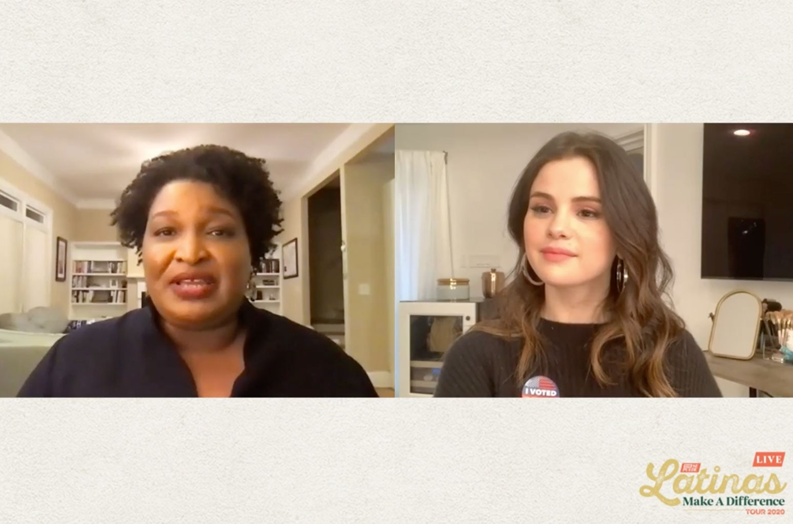Selena Gomez and Stacey Abrams