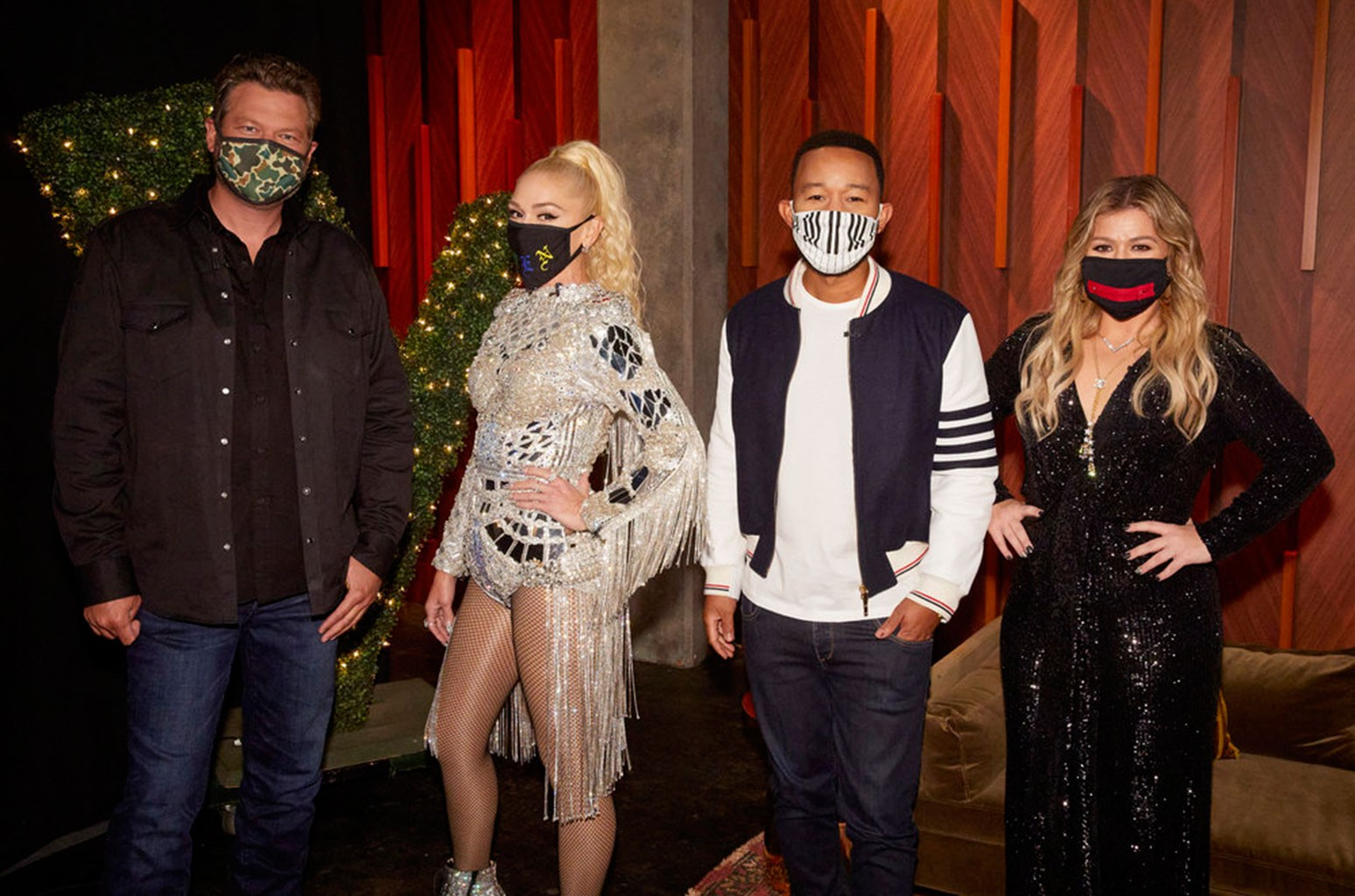 Blake Shelton, Gwen Stefani, John Legend and Kelly Clarkson