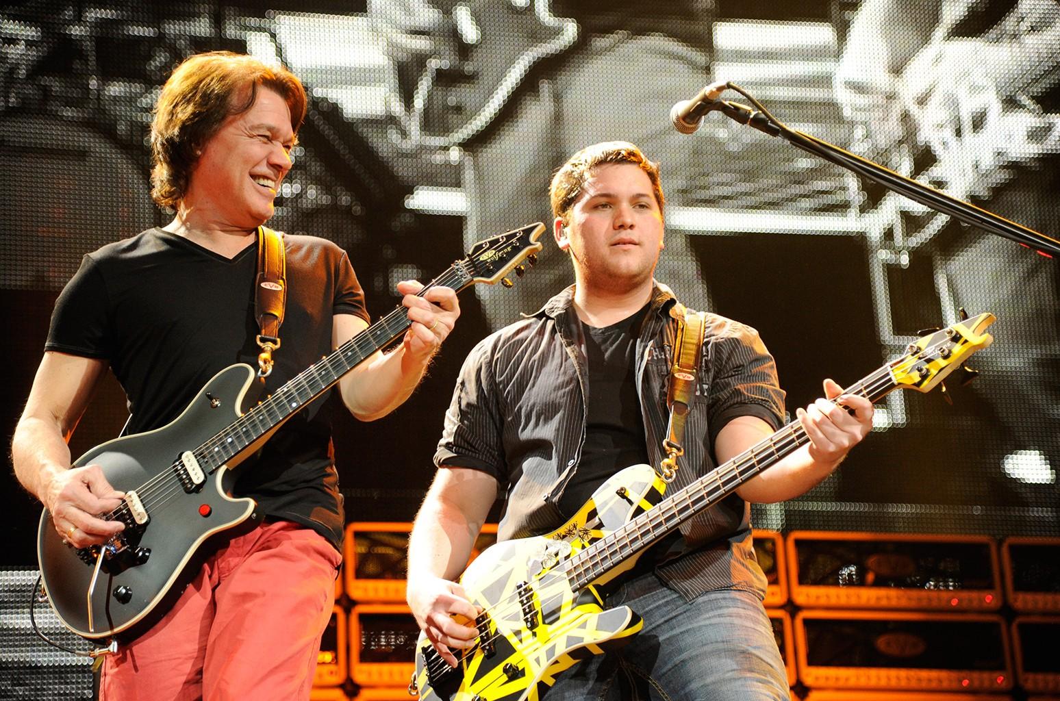 Eddie Van Halen and Wolfgang Van Halen