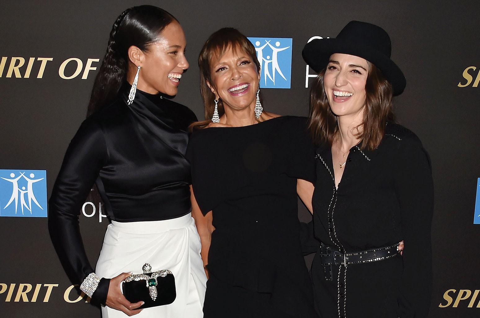 Alicia Keys, Sylvia Rhone and Sara Bareilles