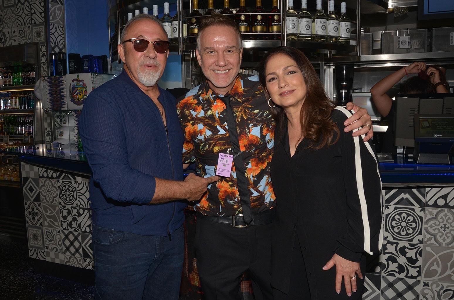 Emilio Estefan, Frank Amadeo and Gloria Estefan