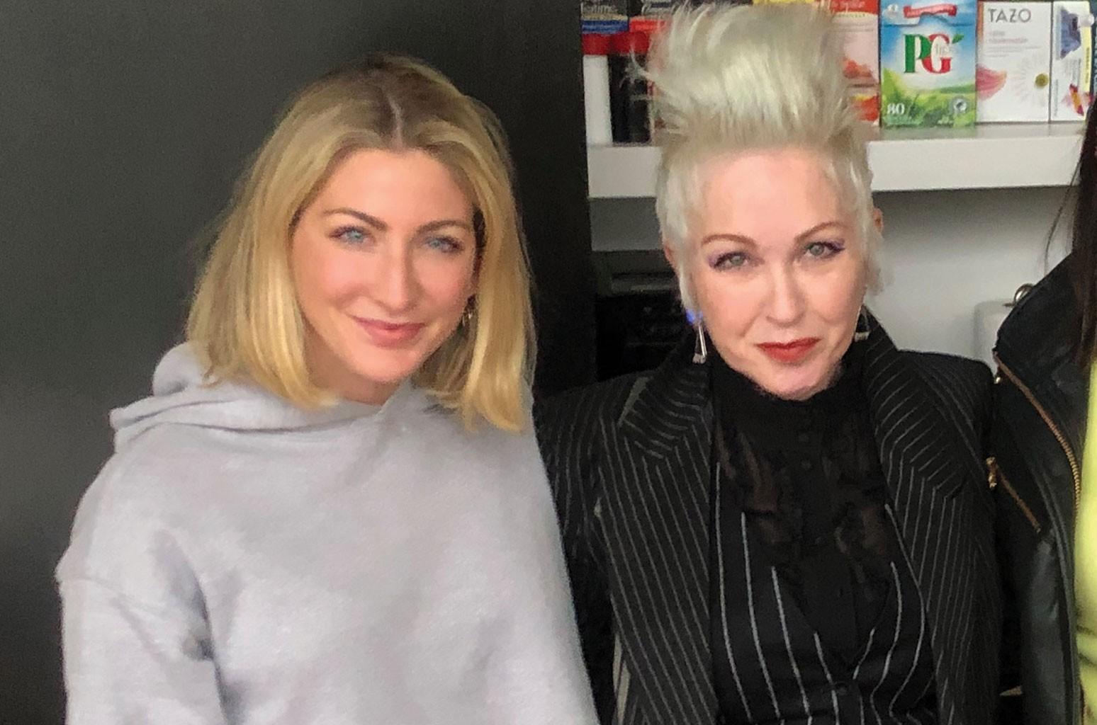 Michelle Arkuski and Cyndi Lauper