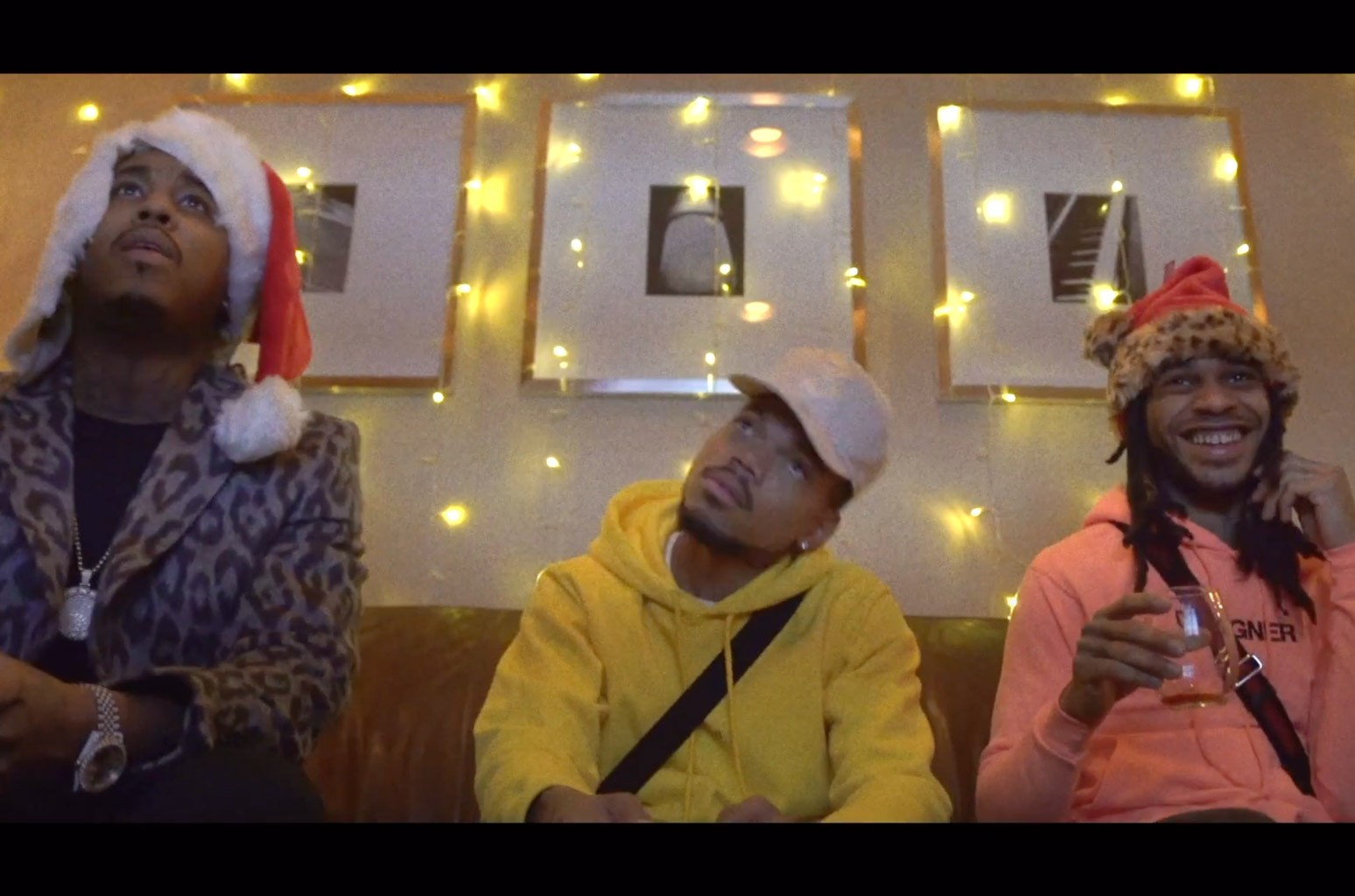 Watch Chance the Rapper, Jeremih & Valee Light Up a Christmas Party in 'Are U Live' Video