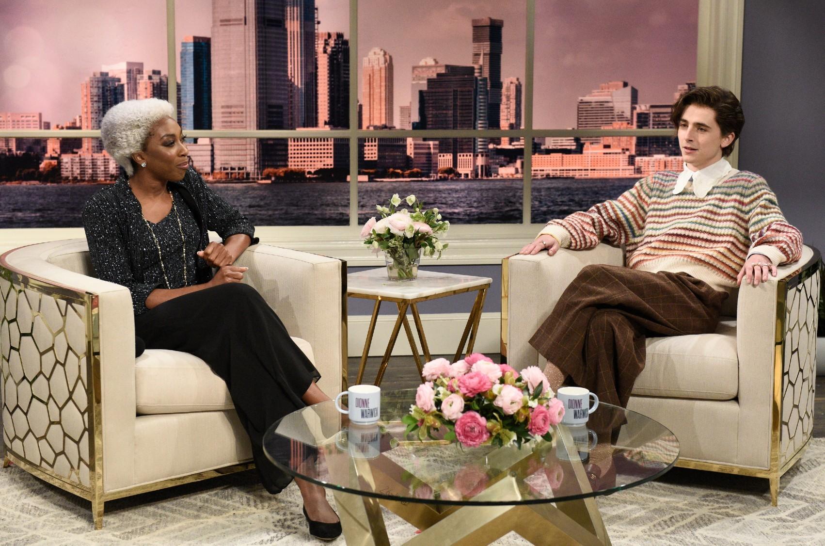 Ego Nwodim, Timothee Chalamet on SNL