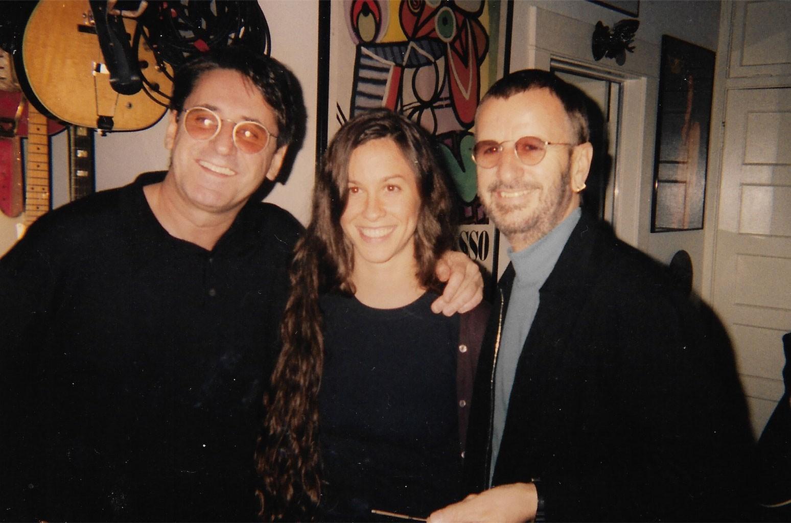 John Alexander with Alanis Morissette and Ringo Starr.