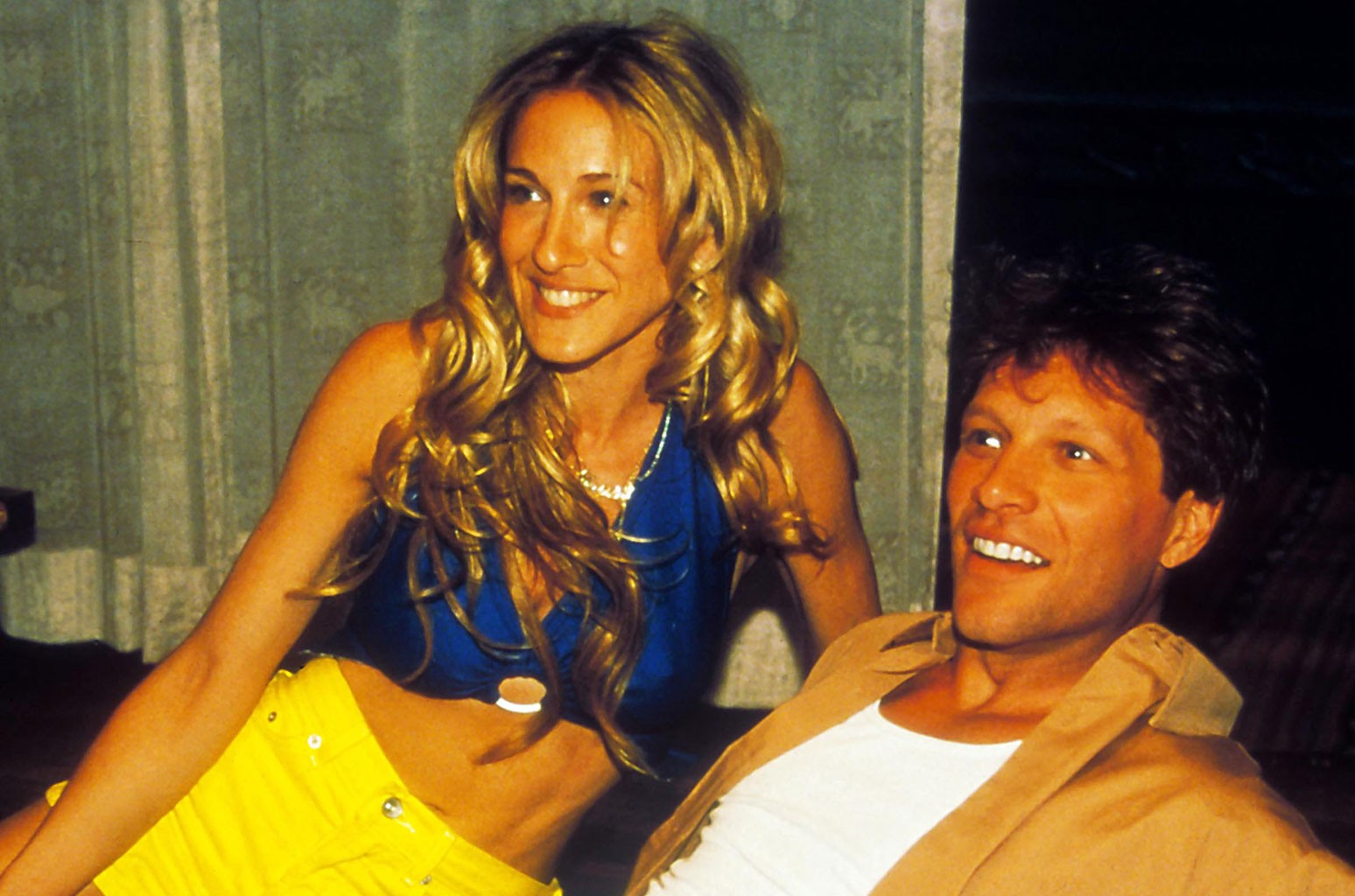 Sarah Jessica Parker and Jon Bon Jovi on 'Sex And The City.'
