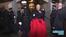 Lady Gaga Gives Striking Performance of National Anthem at Biden Inauguration | Billboard News