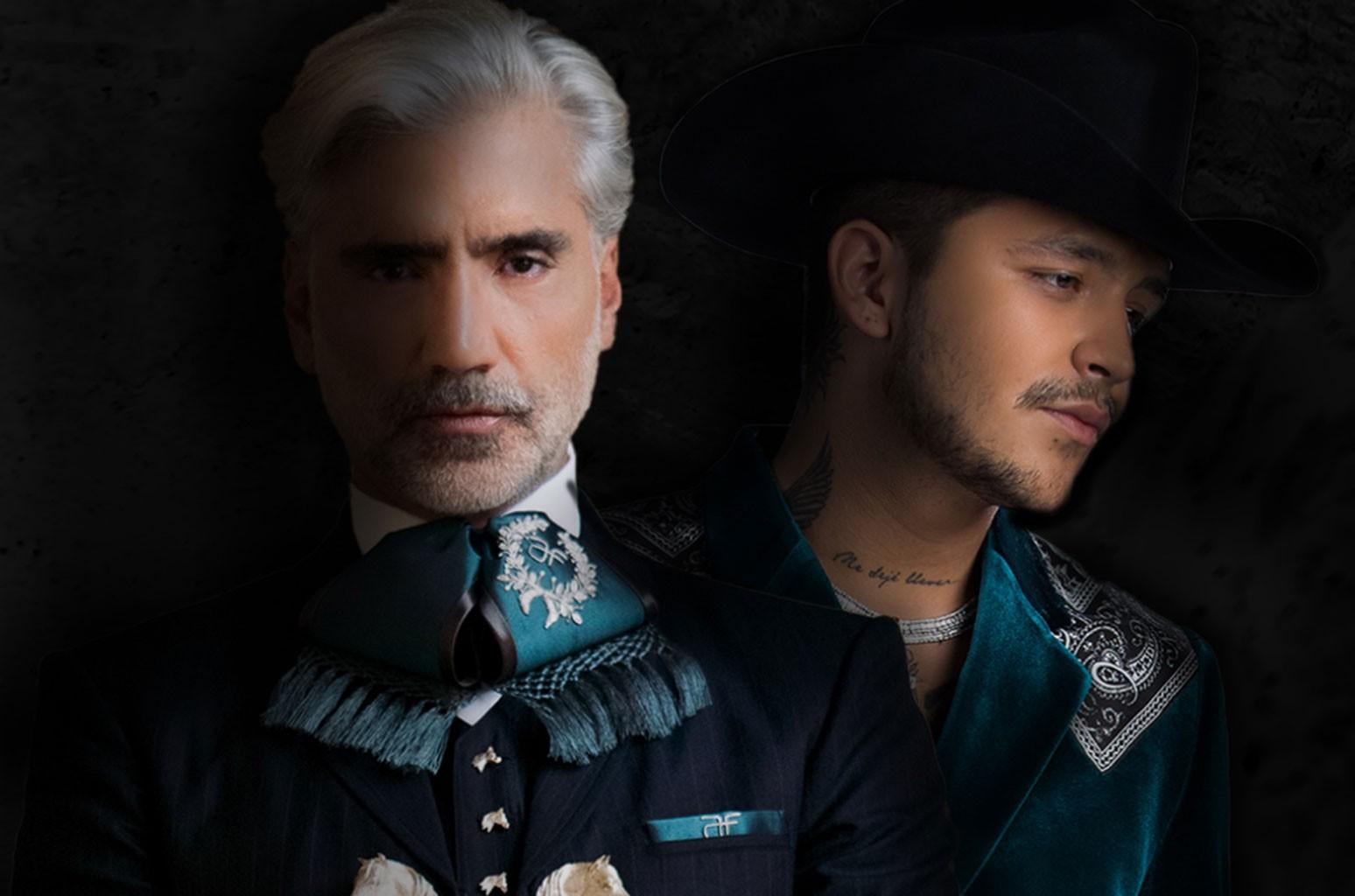 Alejandro Fernández and Christian Nodal