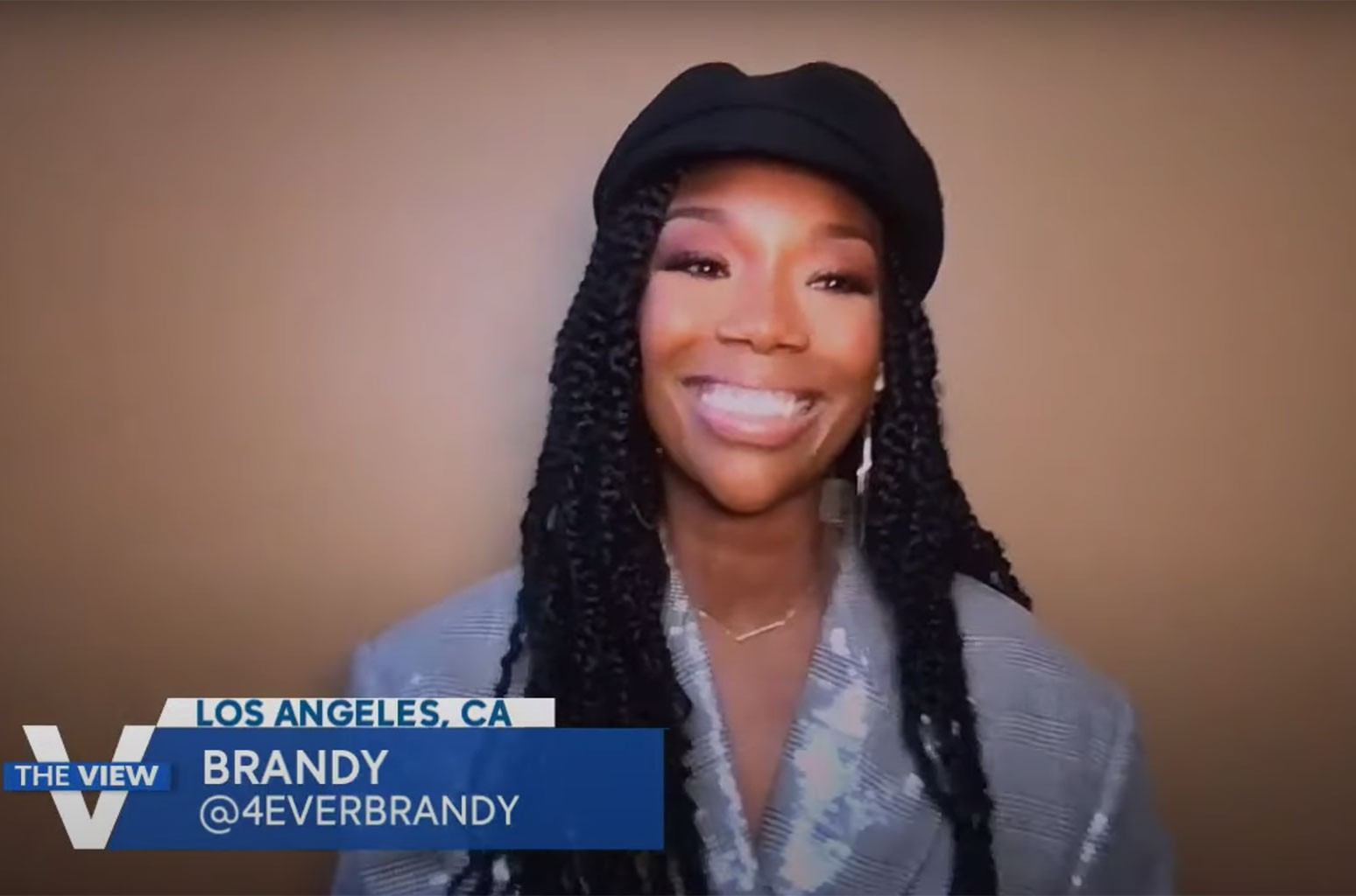Brandy on 'The View.'